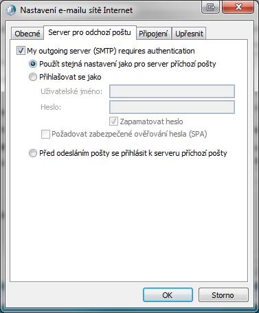 Server pro odchozí poštu